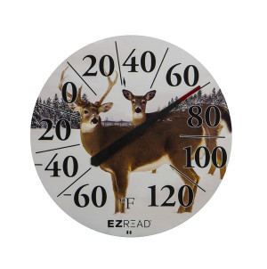 E-Z Read Dial Thermometer with Deer Multi-Color 6ea/12.5 in