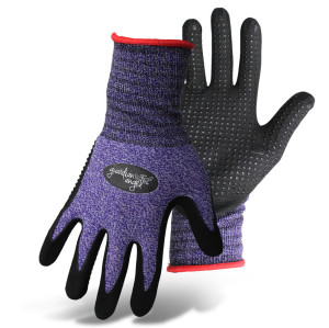 Boss Guardian Angel® Dotted Nitrile Palm Knit Wrist Glove Purple, Red 12ea/Small