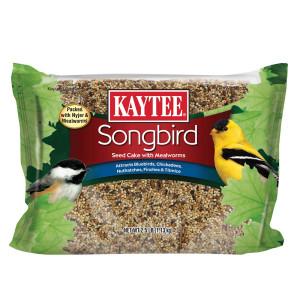 Kaytee Songbird Seed Cake with Mealworms 6ea/2.5 lb