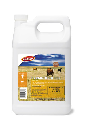 Control Solutions Martin's Permethrin 1% Ready to Use Pour-On Insecticide - Cattle 6ea/1 gal
