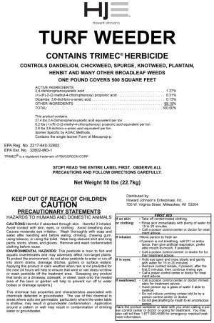 Howard Johnson Turf Weeder Trimec Herbicide 1.81 Granules Pallet 40ea/50 lb