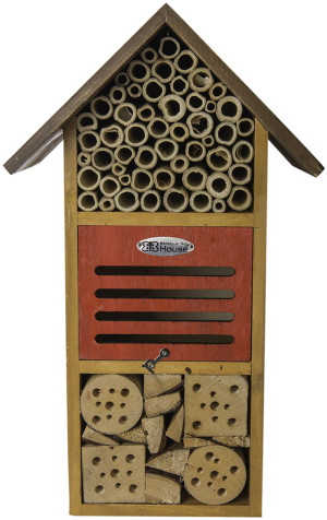 """Supermoss Beneficial Bug Hotel """"Iris"""" Honey 1ea/5.5 In (W) X 14.25 In (H)"""