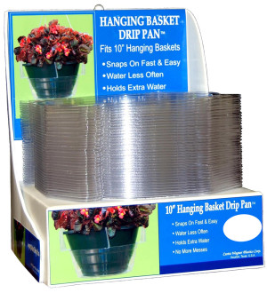 Curtis Wagner Plastics Hanging Basket Drip Pan PDQ Clear 25ea/10 in