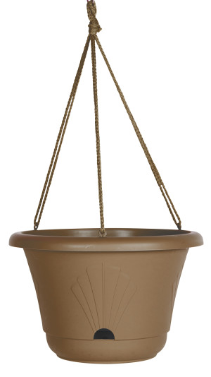 Bloem Lucca Hanging Basket Planter Chocolate 10ea/13 in