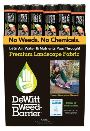 DeWitt 12-Year Weed-Barrier Landscape Fabric Black 18ea/4Ftx50 ft
