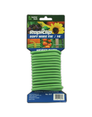 Luster Leaf Rapiclip Soft Wire Twist Tie Heavy Duty Green 12ea/16 ft