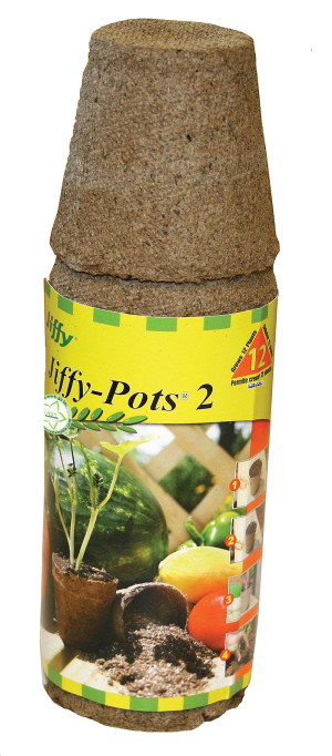 Jiffy Pots 2 Round Grows Plants Brown 44ea/12 Plants 2.25 in