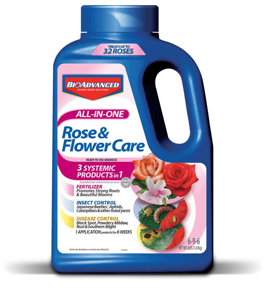 BioAdvanced All-In-One Rose & Flower Care Granules 6-9-6 Imidacloprid 6ea/4 lb