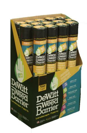DeWitt 20-Year Weed-Barrier Landscape Fabric Black 24ea/3Ftx24 ft