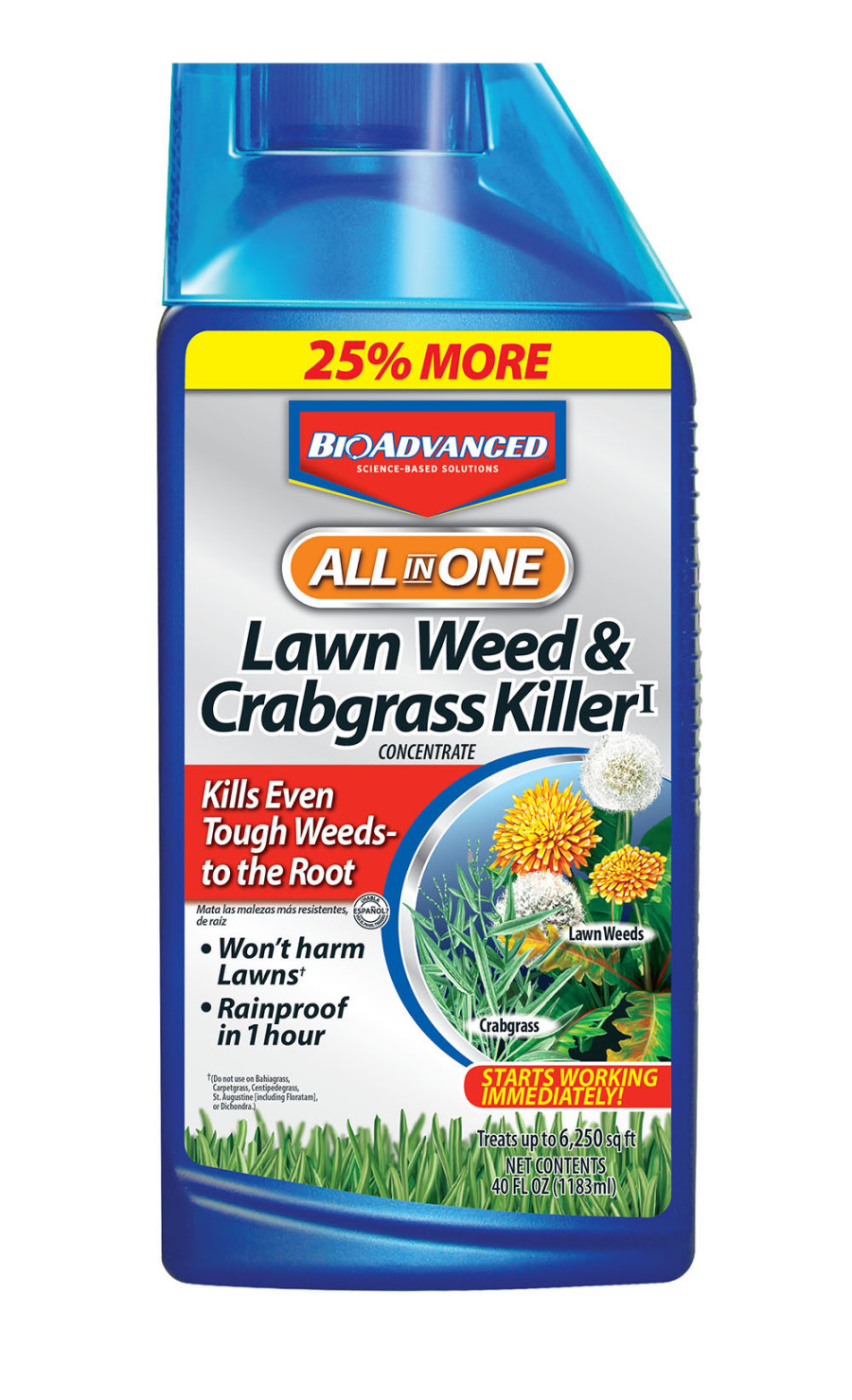BioAdvanced All In One Lawn Weed & Crabgrass Killer Concentrate Floor Display 72ea/40 oz