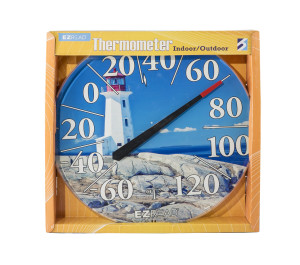 E-Z Read Dial Thermometer with Lighthouse Multi-Color 6ea/12.5 in