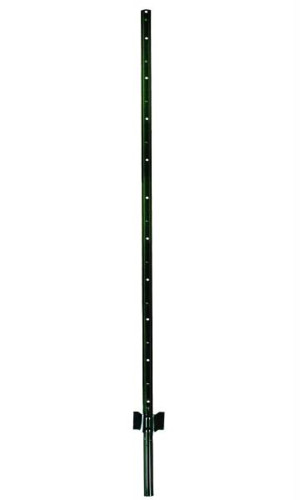 Garden Zone Utility Fencing Light Duty Fence Post Green 10ea/6 ft
