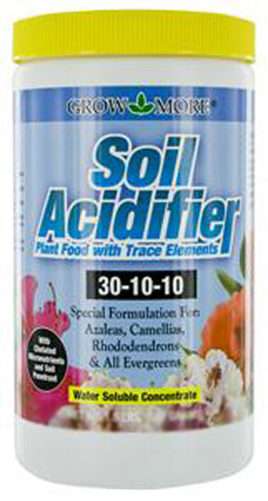 Grow More Soil Acidifier Water Soluble Plant Food Fertilizer 30-10-10