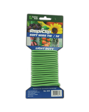 Luster Leaf Rapiclip Soft Wire Twist Tie Light Duty Green 12ea/16 ft