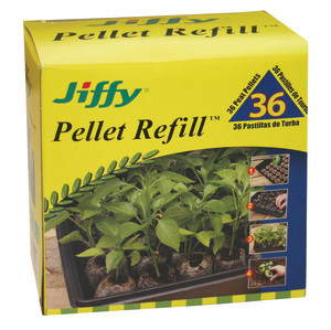Jiffy Pellet Refill 36 Peat Pellets Black 24ea