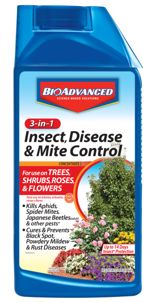 BioAdvanced 3-in-1 Insect, Disease & Mite Control Concentrate 8ea/32 fl oz