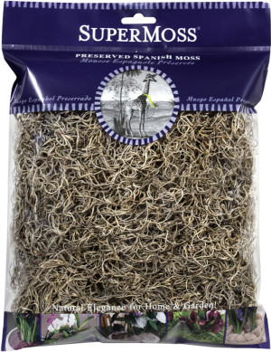 Supermoss Spanish Moss Preserved Natural 10ea/4 oz