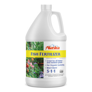 Alaska Fish Emulsion Fertilizer All Purpose 5-1-1 4ea/1 gal