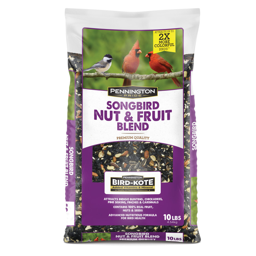 Pennington Pride Songbird Nut & Fruit Blend Bird Food 3ea/10 lb