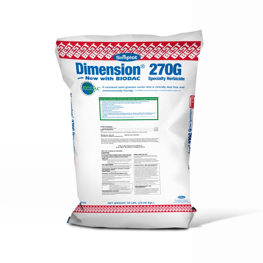 Best Dimension 270G Turf and Landscape Herbicide 1ea/50 lb