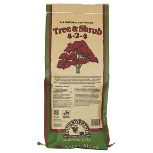 Down To Earth Tree & Shrub Mix Mycorrhizal Fungicide Natural Fert 4-2-4 1ea/25 lb