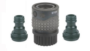Gilmour Light Duty Quick Connector Set with Shut-Off & Hose Connectors Poly Black 12ea/1.4 In X 2.8 In X 6.7 in