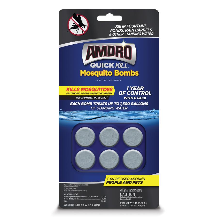 Amdro Quick Kill Mosquito Bombs Larvicide Treatment 12ea/6 pk