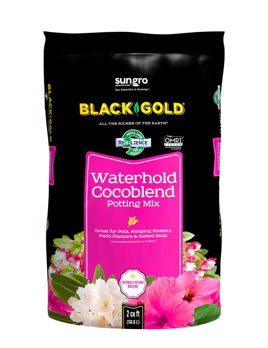 Black Gold Waterhold Cocoblend Potting Soil Organic 5ea/2Cuft