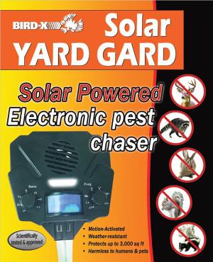 Bird-X Solar Yard Guard Animal Repeller 12ea/8.5 In X 7 In X 4 in