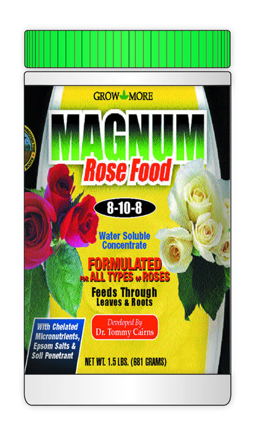Grow More Magnum Rose Food Water Soluble Fertilizer Concentrate 8-10-8