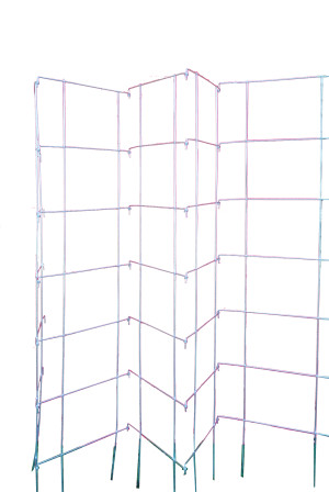 Midwest Wire Works Collapsible 5 Panel Pea Fence 10-Leg Galvanized 4ea/90In 58 in