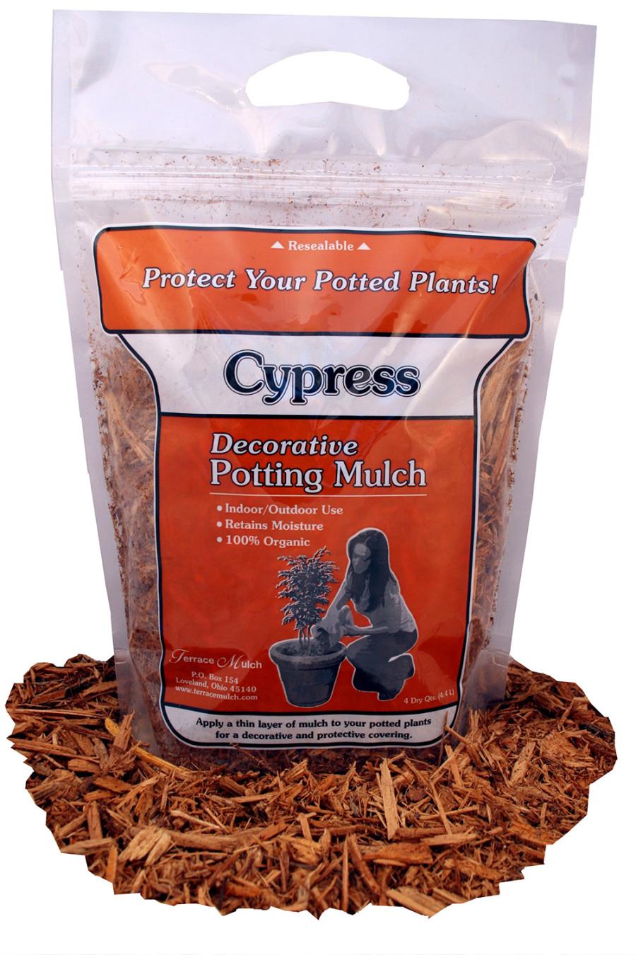 Terrace Mulch Cypress Mulch Tan 24ea/4 qt