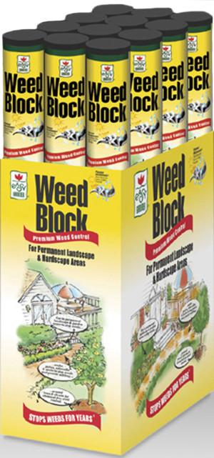 Easy Gardener WeedBlock Weed Control Fabric Black 12ea/3Ftx100 ft
