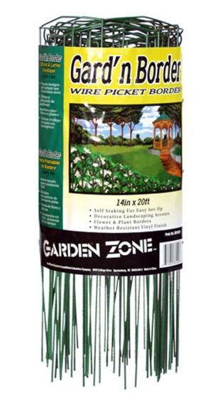 Garden Zone Gard'n Border Wire Picket Border Green 6ea/14Inx20 ft