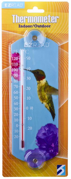 E-Z Read Thermometer Hummingbird Multi-Color 10ea/10 in