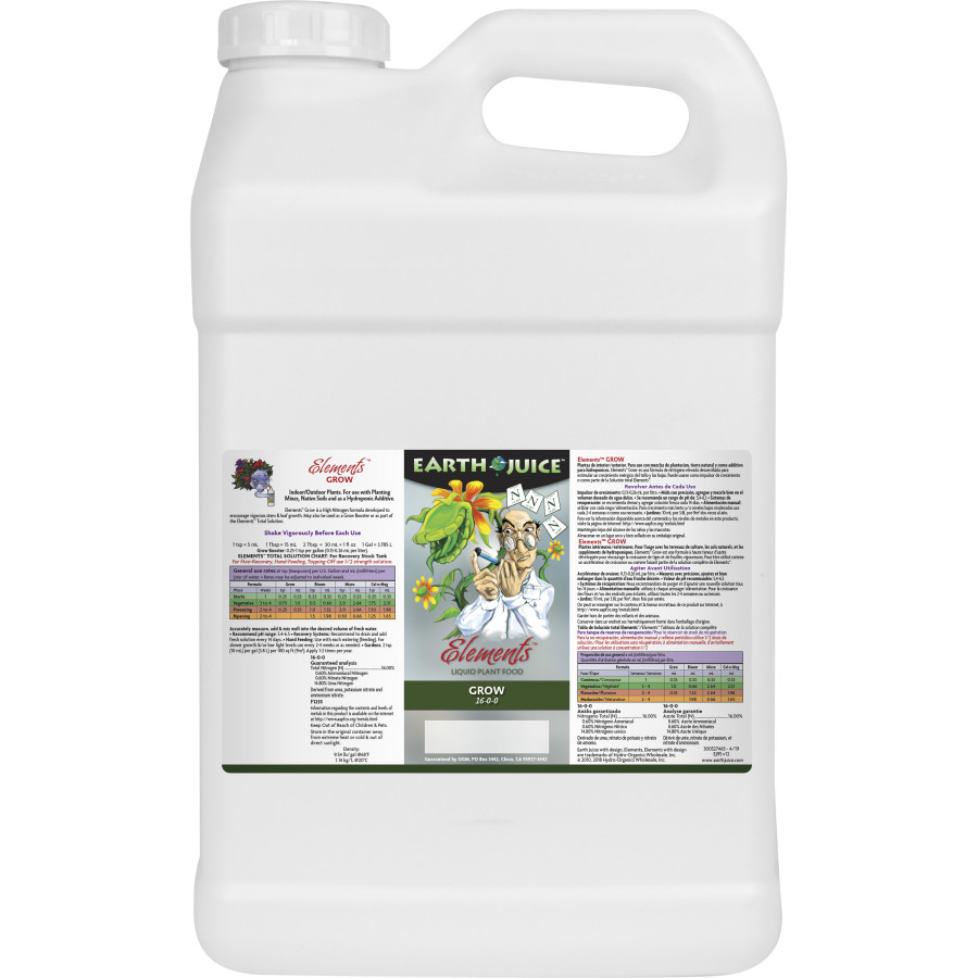 Earth Juice Elements Grow Liquid Plant Food 16-0-0 2ea/2.5 gal