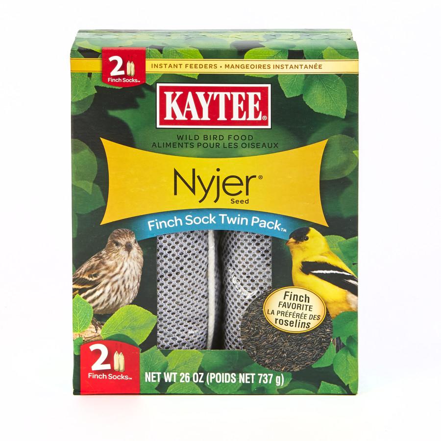 Kaytee Wild Bird Food Nyjer® Seed Finch Sock Twin Pack™ Instant Feeder 6ea/26 oz