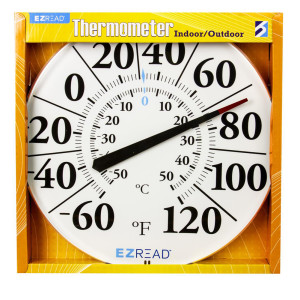 E-Z Read Dial Thermometer Indoor/Outdoor White 6ea/12.5 in