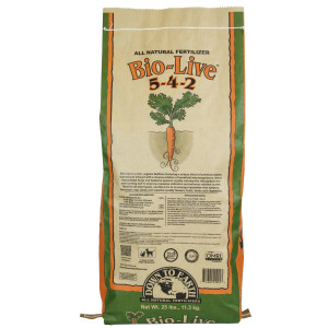 Down To Earth Bio-Live Natural Fertilizer 5-4-2 with Myco OMRI 1ea/25 lb