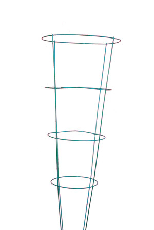 Midwest Wire Works Tomato Cage 4-Leg 4-Ring Heavy-Duty 16in Top Ring Green 25ea/54 in
