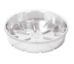 Bond Plastic Saucer Clear 25ea/14 in