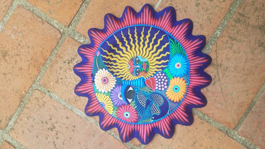 Talavera Sun Eclipse Puebla Multi-Color 4ea