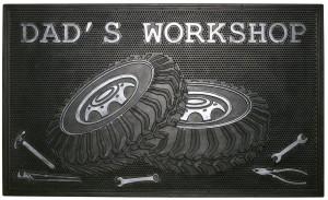 Robert Allen Dad's Door Mat Workshop Black 5ea/18 In X 30 in