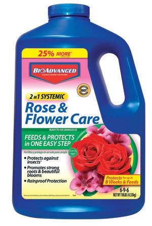 BioAdvanced 2-in-1 Rose & Flower Care Granules 6-9-6 Imidacloprid 4ea/10 lb