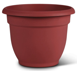 Bloem Ariana Planter with Grid Burnt Red 10ea/6 in