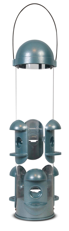 Pennington Squirrel Resistant Bird Feeder Blue 2ea/5.25L X 5.25W X18H