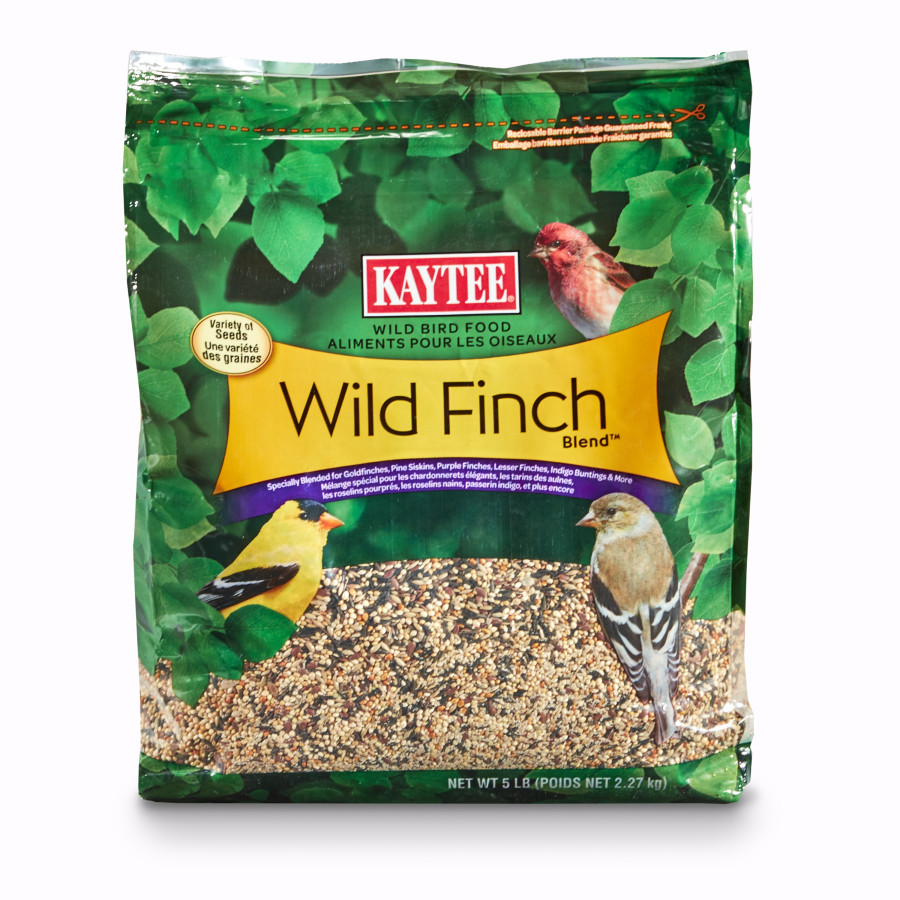 Kaytee Wild Finch Blend Wild Bird Food Stand Up Bag 3ea/5 lb
