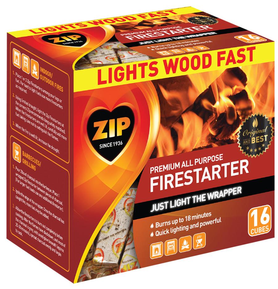 Zip All Purpose Firestarter Cubes 12ea/16 ct