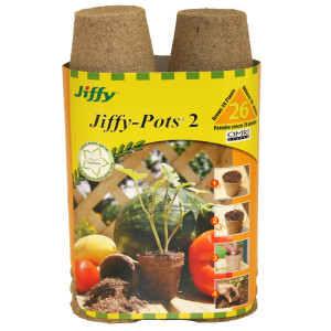 Jiffy Pots 2 Round Grows Plants Brown 16ea/26 Plants 2.25 in