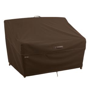 Classic Accessories Madrona Rainproof Deep Seated Cover LoveSeat Dark Cocoa 3ea/Large